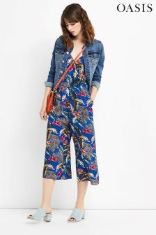 Oasis Rich Blue Miami Tropical Jumpsuit