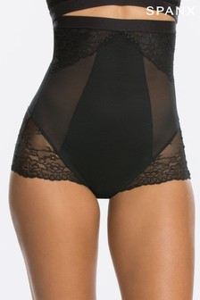 SPANX® Black Lace Shaping High Waisted Brief