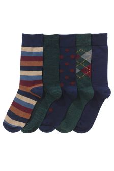 Pattern Socks Five Pack