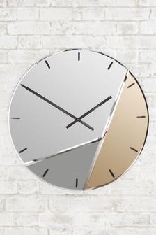 XL Mixed Metallic Wall Clock