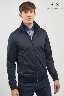 Armani Exchange Navy Taped Track Jacket
