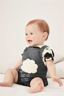 Cloud Dungarees (0mths-2yrs)