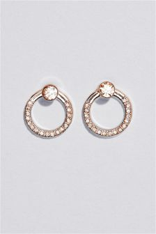 Open Circle Back To Front Earrings