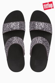 FitFlop™ Pewter Glitterball Slide Sandal