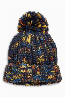 Twist Pom Beanie (Younger Boys)