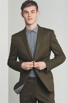 Stretch Twill Skinny Fit Suit