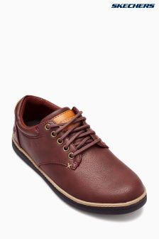 Skechers® Brown Low Profile Lace-Up
