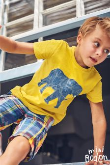 Boden Yellow Patchwork Animal T-Shirt