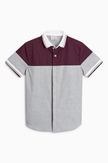 Short Sleeve Colourblock Sporty Shirt (3-16yrs)