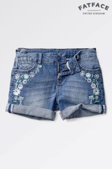 Fat Face Dark Wash Devon Denim Short