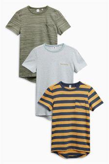 Textured T-Shirts Three Pack (3-16yrs)