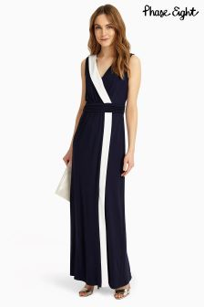 Phase Eight Navy/Ivory Mirabella Maxi Dress