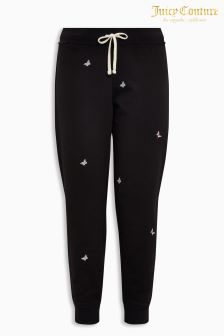Juicy Couture Black Embroidered Jogger