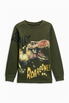 Dinosaur Totally Roarsome Long Sleeve T-Shirt (3-16yrs)