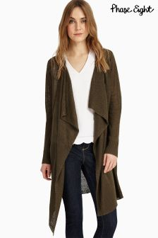 Phase Eight Khaki Luella Linen Cardigan