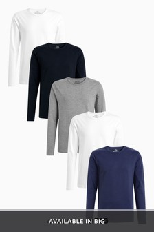 Long Sleeve T-Shirts Five Pack