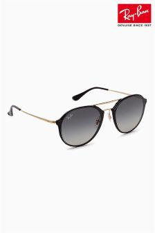 Ray-Ban® Black Rimless Aviator Sunglasses