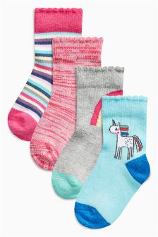 Unicorn Socks Four Pack (Younger Girls)