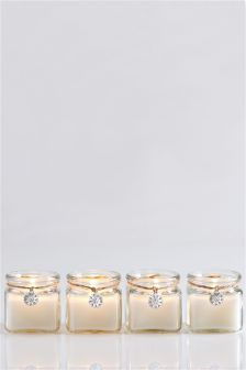 Set of 4 White Jasmine Candles