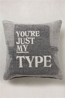 Black/Grey Just My Type Cushion