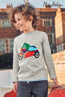 Boden Grey Novelty Vehicle T-Shirt