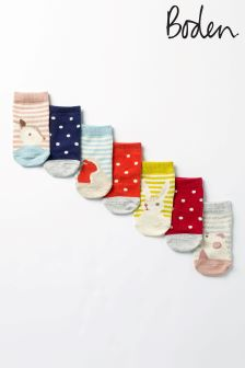 Boden Pink Sock Box Seven Pack