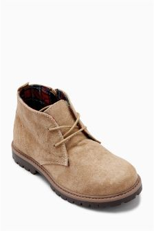 Water Resistant Suede Boots (Older Boys)