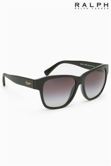 Ralph Lauren Black Cat Eye Oversized Sunglasses