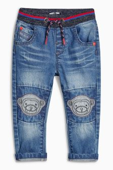 Monkey Pull-On Jeans (3mths-6yrs)