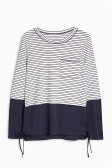 Colourblock Long Sleeve Top