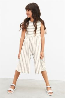 Stripe Cropped Wide Leg Playsuit (3-16yrs)