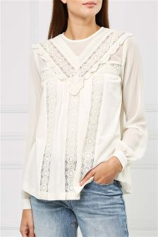 Embroidered Panel Blouse