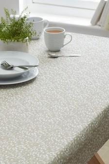 Wipe Clean Natural Petal PVC Tablecloth