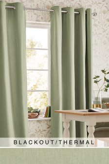 Cotton Studio* Eyelet Blackout/Thermal Curtains