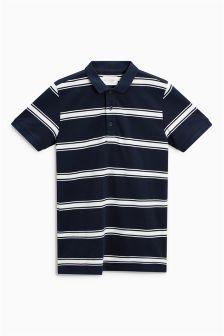 Pique Striped Polo (3-16yrs)