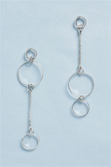 Delicate Circle Drop Earrings