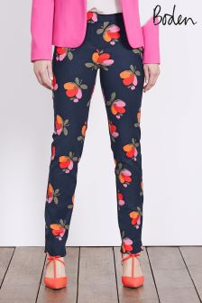 Boden Navy Bloom Richmond Trouser
