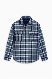 Long Sleeve Jersey Lined Check Shirt (3-16yrs)