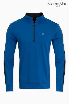 Calvin Klein Golf Blue 1/2 Zip Tribeca Layering