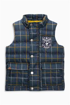 Padded Check Gilet (3mths-6yrs)