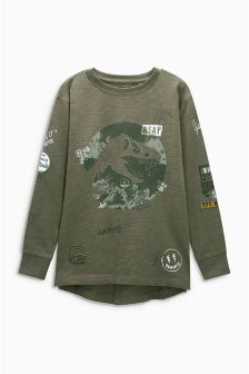 Long Sleeve Dino Top (3-16yrs)