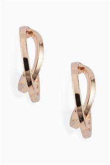 Crossover Mini Hoop Earrings