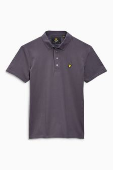 Lyle & Scott Grey Woven Collar Poloshirt