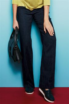 Stripe Linen Blend Trousers