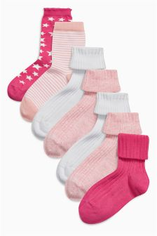 Rollover Socks Seven Pack (Older Girls)