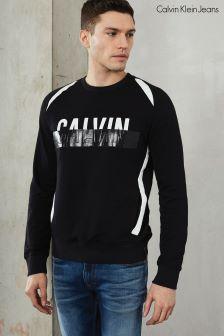 Calvin Klein Black Haldi Crew Neck Sweatshirt