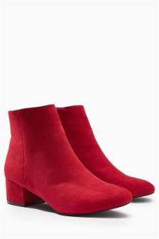 Low Block Heel Ankle Boots