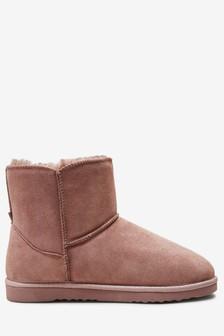 Premium Suede Slipper Boots