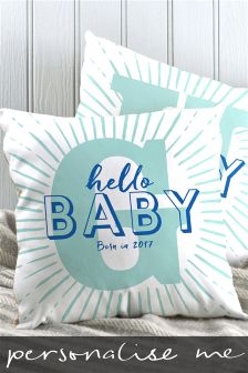 Hello Baby Initial Cushion By Letterfest