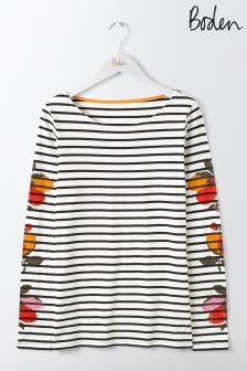 Boden Ivory/Black Bloom Make A Statement Breton